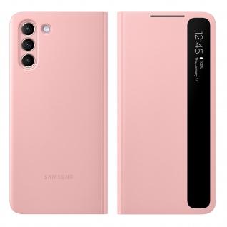 Original Samsung Clear View Cover, Klapphülle für Samsung Galaxy S21 - Rosa