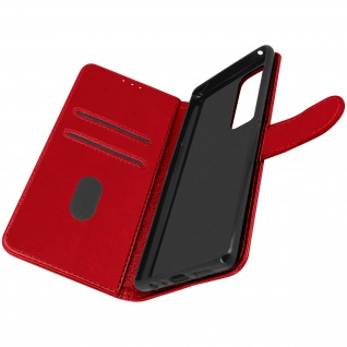 Klappetui mit Geldbörse, Kunstlederhülle für Samsung Galaxy A72 ? Rot