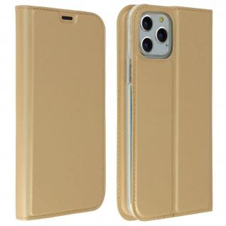 Klappetui mit Kartenfach & Standfunktion Apple iPhone 11 Pro Max - Gold