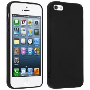 Apple iPhone 5, 5s und SE schwarze ultradünne Schutzhülle aus Silikon
