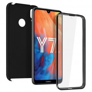 Schutzhülle für Huawei Y7 2019, Vorder- + Rückseite ? Schwarz