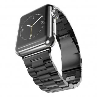 Apple Watch 42 / 44mm Armband, Premium Edelstahl Armbanduhr ? Schwarz