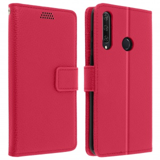 Huawei Y6p Flip-Cover mit Kartenfächern & Standfunktion - Rosa