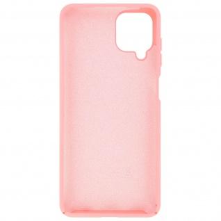 Halbsteife Silikon Handyhülle für Samsung Galaxy A12, Soft Touch ? Rosa