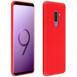 Halbsteife Silikon Handyhülle Samsung Galaxy S9 Plus, Soft Touch - Rot
