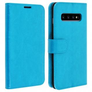 Flip Stand Cover Brieftasche & Standfunktion für Samsung Galaxy S10 - Blau