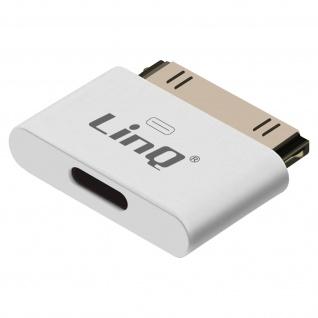 Sync- & Ladeadapter, Apple 30-polig / Lightning, IP-7749 by LinQ â€? Weiß