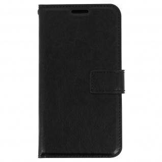 Flip-Schutzhülle im Brieftaschenstil für Galaxy S7 ? Schwarz + Standfunktion