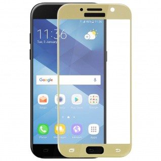Displayschutzfolie aus Glas mit abgerundeten Kanten Galaxy A5 2017 - Gold