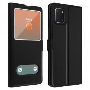 Samsung Galaxy Note 10 Lite Flip Cover Doppelfenster & Standfunktion � Schwarz