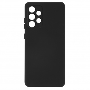 Halbsteife Silikon Handyhülle für Samsung Galaxy A32, Soft Touch ? Schwarz