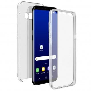Schutzhülle für Samsung Galaxy S8 Plus, Vorder- + Rückseite - Transparent