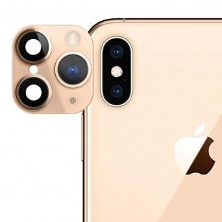 Apple iPhone 11 Pro goldener Fake Kamera Aufkleber für die Rückkamera aus Glas - Vorschau 1