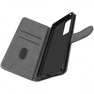Klappetui mit Geldbörse, Kunstlederhülle für Samsung Galaxy A72 ? Grau