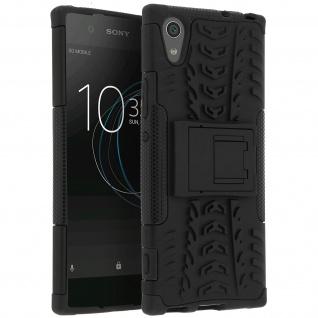 Stoßfeste Schutzhülle + Standfunktion für Sony Xperia XA1 - Schwarz
