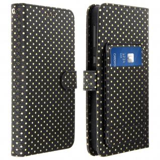 Universal Bookcover für Smartphones Größe 3XL Standfunktion + Spiegel â€? Schwarz