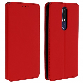 Kunstleder Cover Classic Edition Nokia 3.1 Plus - Rot