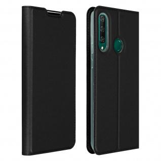Klappetui mit Kartenfach & Standfunktion Huawei Y6p - Schwarz