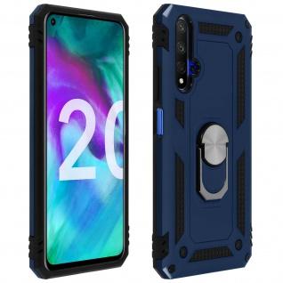 Hybrid Handyhülle mit Ring Halterung für Honor 20, Huawei Nova 5T ? Dunkelblau