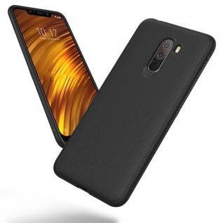 Xiaomi Pocophone F1 Schutzhülle, Soft Silikonhülle, ultradünne Hülle - Schwarz