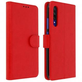 Flip Cover Geldbörse, Klappetui Kunstleder für Xiaomi Mi A3 ? Rot