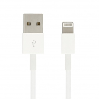 Ladekabel iPhone/iPad/ USB - Kabellänge: 1m - Weiß