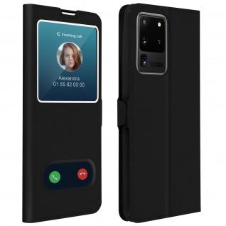 Samsung Galaxy S20 Ultra Flip Cover Doppelfenster & Standfunktion - Schwarz