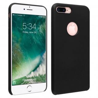 Halbsteife Silikon Handyhülle iPhone 7 +/8 +, Soft Touch - Schwarz
