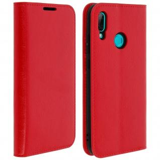 Business Leder Cover, Schutzhülle mit Geldbörse für Huawei P Smart 2019 - Rot