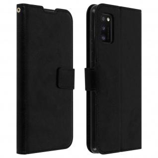 Flip Stand Case Brieftasche & Standfunktion für Samsung Galaxy A41 - Schwarz