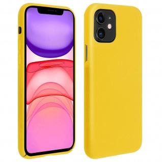 Halbsteife Silikon Handyhülle Apple iPhone 11, Soft Touch - Gelb