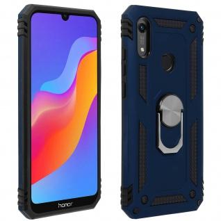 Hybrid Handyhülle mit Ring Halterung für Huawei Y6 2019 ? Dunkelblau