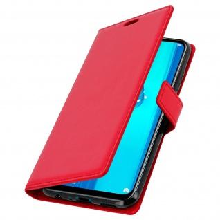 Flip Stand Cover Brieftasche & Standfunktion für Huawei Y9 2019 - Rot - Vorschau 2