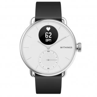 Withings Gesundheits-Wearable Scanwatch, 38mm Armband mit EKG und SpO2 ? Weiß