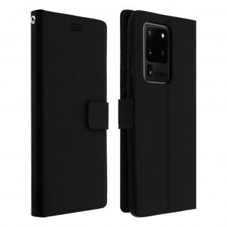 Samsung Galaxy S20 Ultra Flip-Cover mit Kartenfächern & Standfunktion - Schwarz