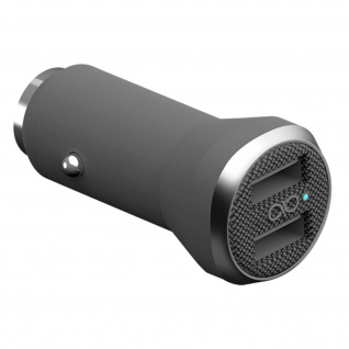 Force Power Zigaretten-Anzünder KFZ-Ladegerät mit 2x USB Ports 4.8A - Grau