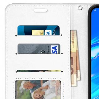 Flip Stand Cover Brieftasche & Standfunktion für Huawei Y7 2019 - Weiß - Vorschau 5