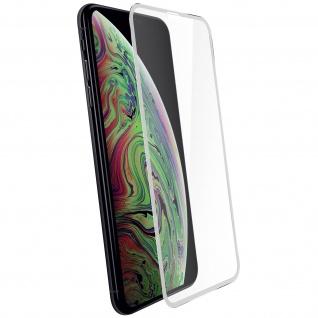 Apple iPhone XS MAX Displayschutzfolie aus Glas mit abgerundeten Kanten Weiß