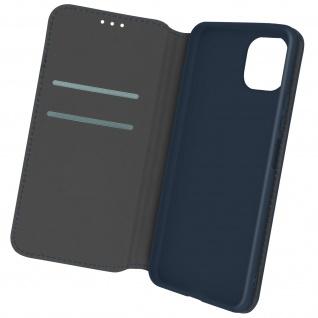 Kunstleder Cover Classic Edition, Klappetui für Samsung A22 5G ? Dunkelblau