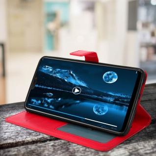 Flip Cover Stand Case Brieftasche & Standfunktion für Oneplus 6 - Rot - Vorschau 3