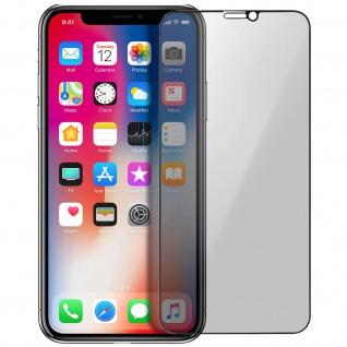 Premium Schutzfolie für Apple iPhone X, iPhone XS mit Blickschutz ? Schwarz