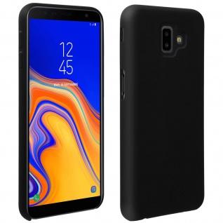 Halbsteife Silikon Handyhülle Galaxy J6 +, Soft Touch - Schwarz