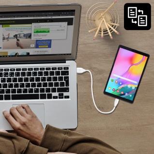 USB /Micro-USB Kabel 2.1A Lade- und Synchronisationskabel 20cm CK21 Inkax ? Weiß - Vorschau 3