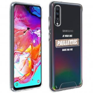 """Handyhülle für Samsung Galaxy A70, Made in France ? """" Paillettes"""" Design"""
