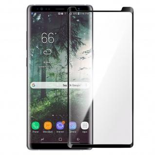 Premium Glas-Schutzfolie für Samsung Galaxy Note 8 - Rand Schwarz