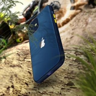 Apple iPhone 12 Mini Hülle aus Polycarbonat, Bumper aus Silikon - Dunkelblau - Vorschau 3