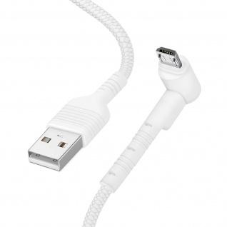 USB / Micro-USB Kabel mit abgewinkeltem Stecker 1m Inkax CK71 ? Weiß