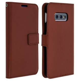 Flip Stand Cover Brieftasche & Standfunktion für Samsung Galaxy S10e - Braun - Vorschau 1