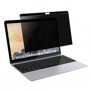 Displayschutzfolie mit Blickschutz, OptiGuard by Qdos für MacBook 12''