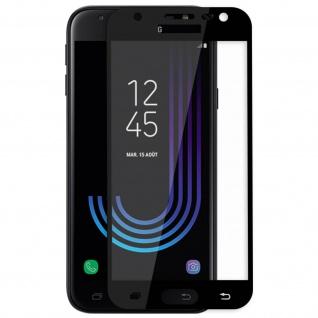 9H Displayschutzfolie aus gehärtetem Glas Samsung Galaxy J3 2017 - Rand Schwarz